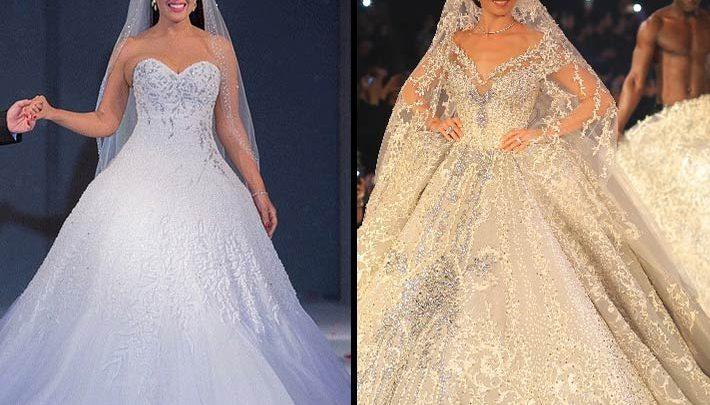 الحرب تشتعل بين يسرا اللوزي وسمية الخشاب بسبب «أغلى فستان زفاف»..صور