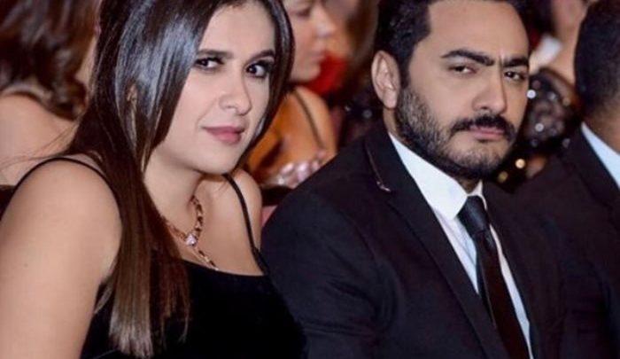 ياسمين عبد العزيز وتامر حسنى