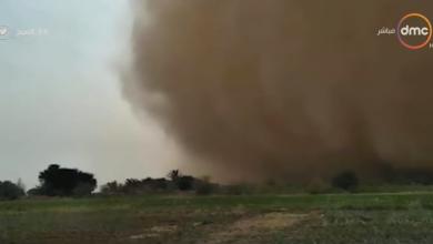 صورة شاهد  عاصفة ترابية شديدة تجتاح الفرافرة وسط هلع الناس وفي طريقها للقاهرة
