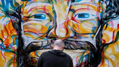 صورة قبل النهائي الأوروبي.. جدارية جديدة لصلاح في أحد شوارع إنجلترا