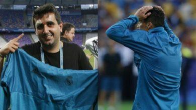 صورة رونالدو يُصيب أحد المصورين بتسديدة صاروخية ثم يمنحه هدية