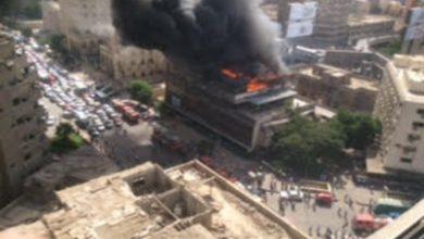 صورة عاجل| حريق في مبنى نقابة التجاريين والبنك الأهلي برمسيس..صور