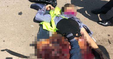 صورة إرهابى يفجر نفسه بإرتدائه حزام ناسف في محاولة لاستهداف كنيسة العذراء بمسطرد