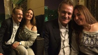 """صورة شاهد.. نيرمين الفقي تحتفل بعيد ميلاد """"فاروق الفيشاوي"""""""